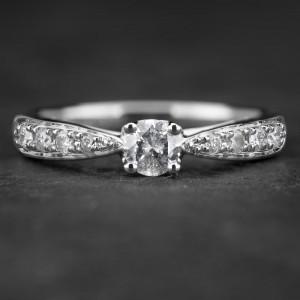 """Sužadėtuvių žiedas su Briliantais """"The Elegance 24"""""""