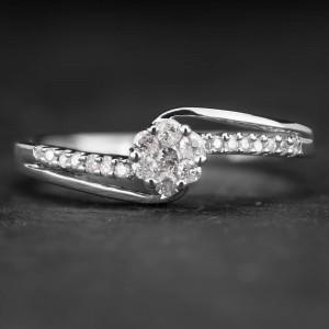 """Sužadėtuvių žiedas su Briliantais """"Shiny Flower 8"""""""