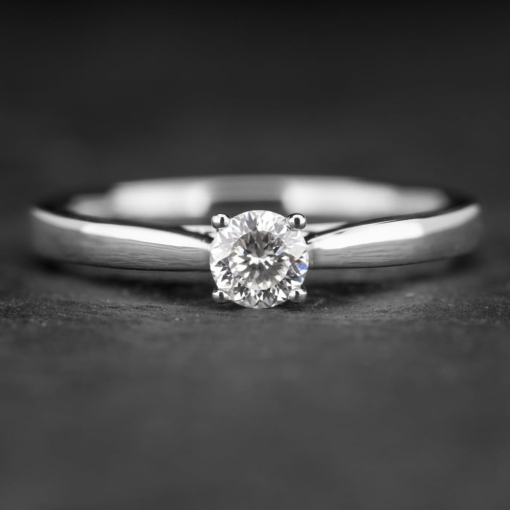 """Sužadėtuvių žiedas su Briliantu """"Fortune 4"""""""