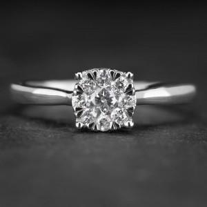 """Sužadėtuvių žiedas su Briliantais """"Shiny Bunch 18"""""""