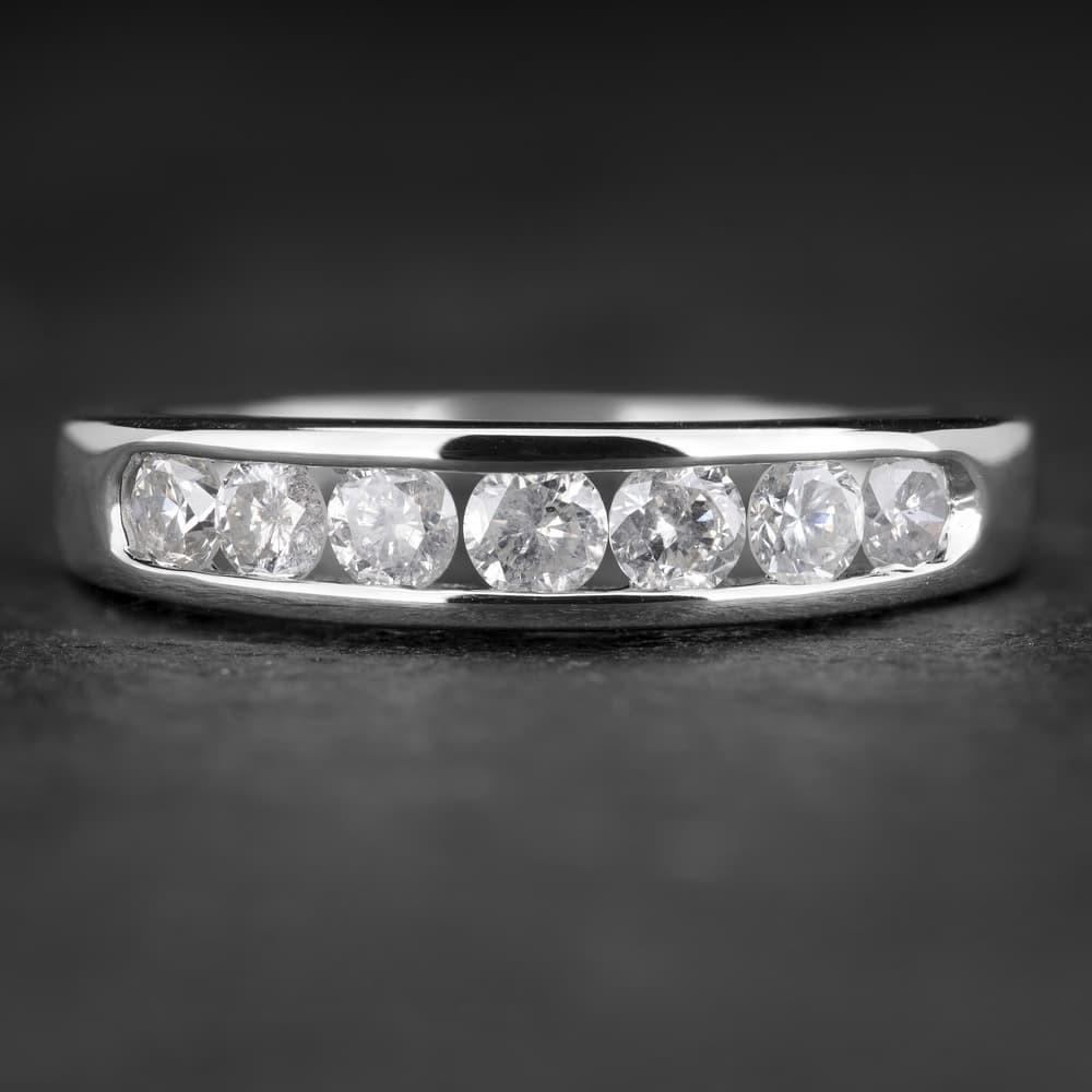 """Auksinis žiedas su Briliantais """"Deimantinė Juostelė 18"""""""