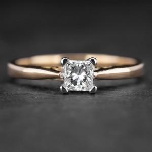 """Sužadėtuvių žiedas su Deimantu """"Princess 26"""""""