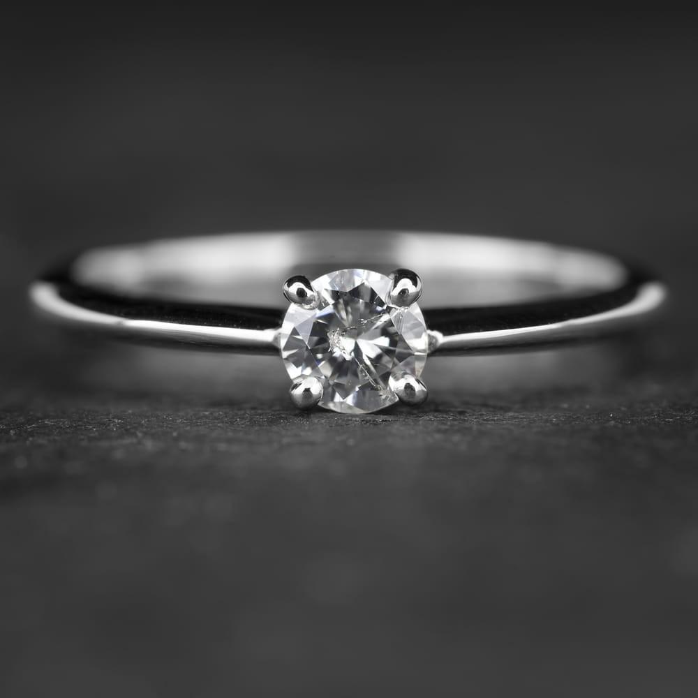"""Sužadėtuvių žiedas su Briliantu """"The Diamond 47"""""""