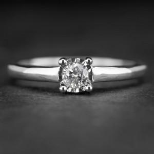 """Sužadėtuvių žiedas su Briliantu """"Nuostabusis 16"""""""