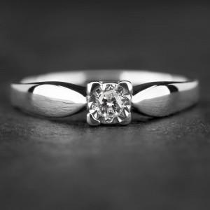 """Sužadėtuvių žiedas su Briliantu """"Nuostabusis 18"""""""