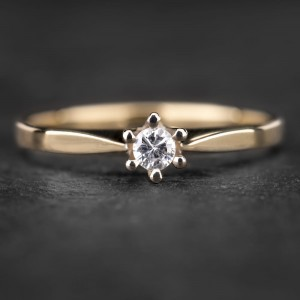 """Sužadėtuvių žiedas su Briliantu """"Nuoširdžioji 18"""""""