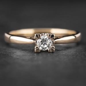 """Sužadėtuvių žiedas su Briliantu """"The Diamond 48"""""""