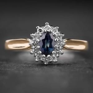 """Auksinis žiedas su Brangakmeniais """"The Sun of Sapphire II"""""""