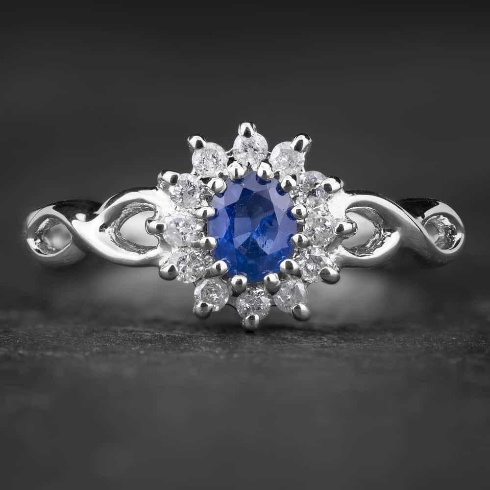 """Auksinis žiedas su Brangakmeniais """"The Sun of Sapphire 3"""""""