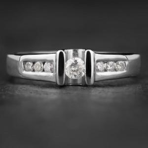 """Sužadėtuvių žiedas su Briliantais """"Santūrumas 2"""""""
