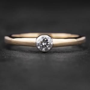 """Sužadėtuvių žiedas su Briliantu """"Sweetness"""""""