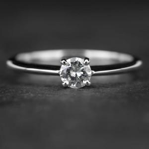 """Sužadėtuvių žiedas su Briliantu """"The Diamond 3"""""""