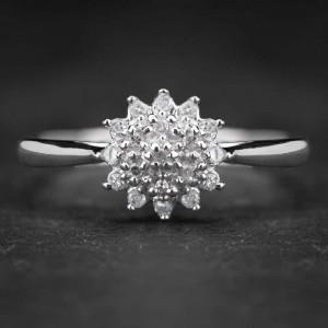 """Auksinis žiedas su Deimantais """"Shiny Flower"""""""