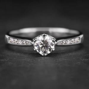 """Sužadėtuvių žiedas su Briliantais """"Tiara 6"""""""