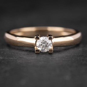 """Sužadėtuvių žiedas su Briliantu """"The Diamond 4"""""""