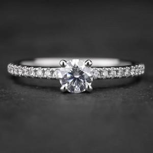 """Sužadėtuvių žiedas su Briliantais """"Tiara 7"""""""