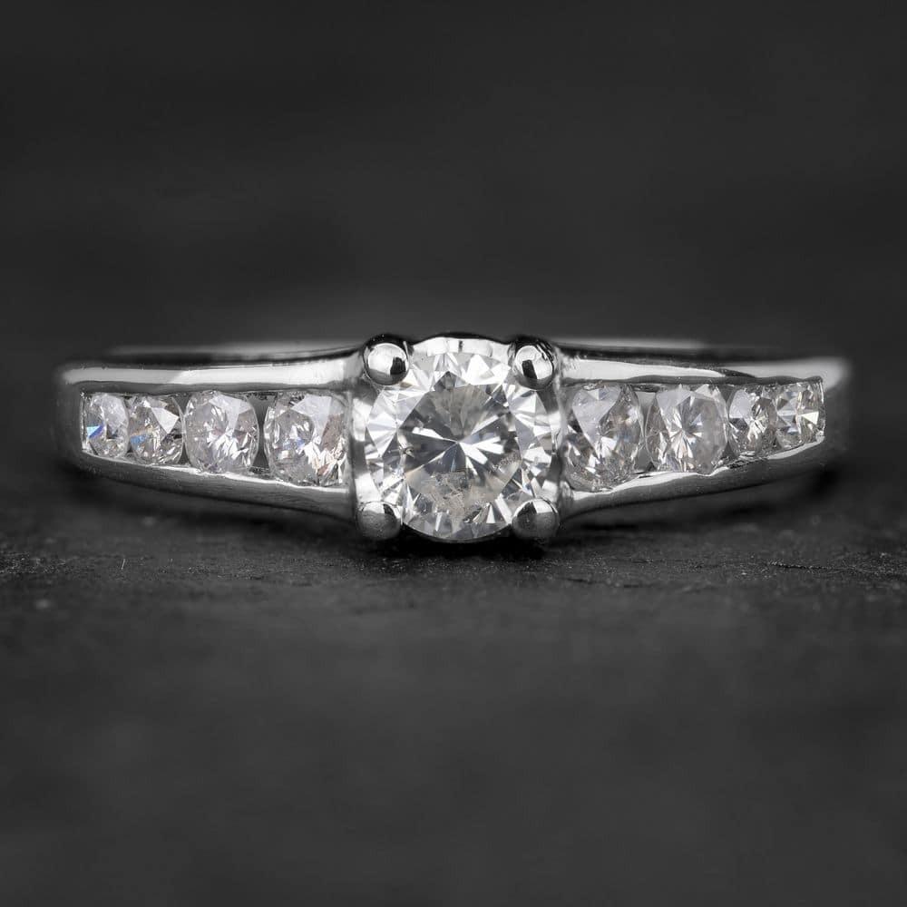 """Sužadėtuvių žiedas su Briliantais """"The Elegance 10"""""""
