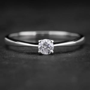 """Sužadėtuvių žiedas su Briliantu """"The Diamond 5"""""""