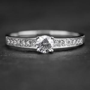 """Sužadėtuvių žiedas su Briliantais """"The Elegance 25"""""""