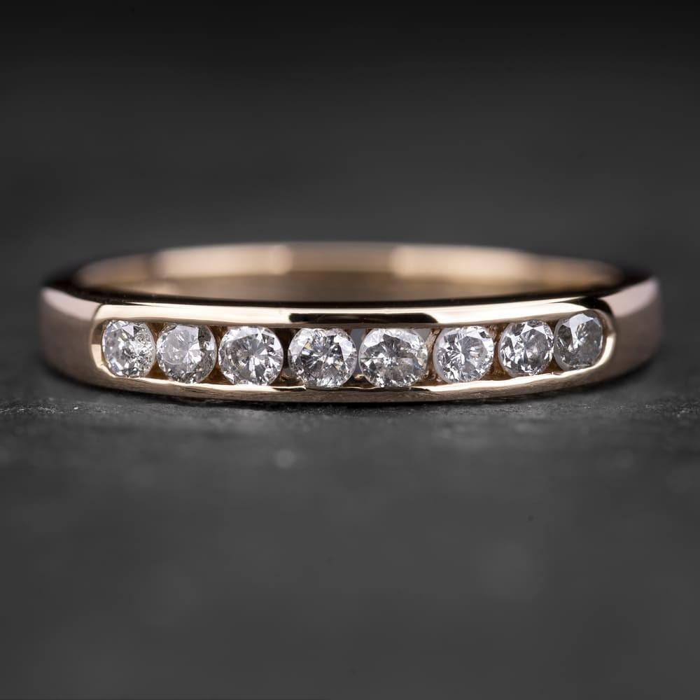 """Auksinis žiedas su Briliantais """"Deimantinė Juostelė 4"""""""
