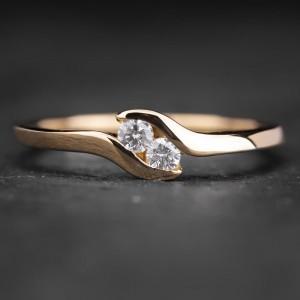 """Sužadėtuvių žiedas su Briliantais """"Sweetness 3"""""""