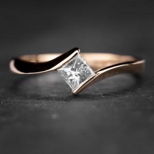 """Sužadėtuvių žiedas su Deimantu """"Princess 4"""""""