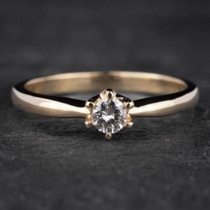 """Auksinis žiedas su Briliantu """"Nuoširdžioji 2"""""""