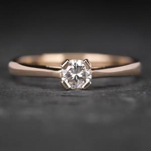 """Sužadėtuvių žiedas su Briliantu """"The Diamond 10"""""""