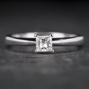 """Sužadėtuvių žiedas su Deimantu """"Princess 12"""""""