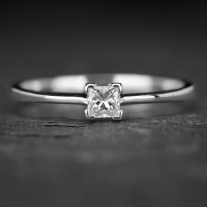 """Sužadėtuvių žiedas su Deimantu """"Princess 13"""""""