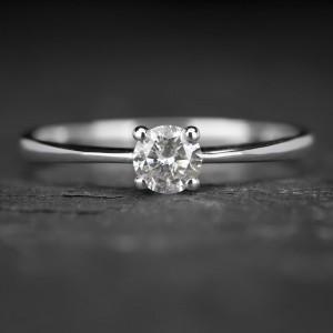 """Sužadėtuvių žiedas su Briliantu """"The Diamond 49"""""""