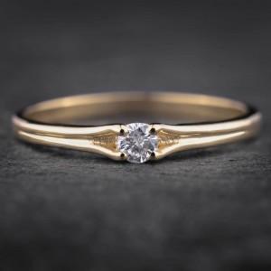 """Sužadėtuvių žiedas su Briliantu """"Subtilumas 4"""""""