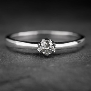 """Auksinis žiedas su Briliantu """"Kunigaikštytė 5"""""""
