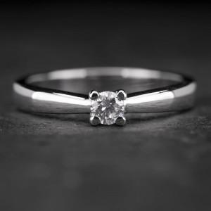 """Sužadėtuvių žiedas su Briliantu """"The Best 11"""""""