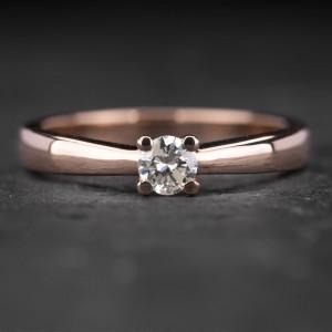 """Sužadėtuvių žiedas su Briliantu """"The Only One 15"""""""