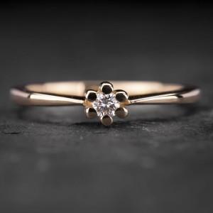 """Sužadėtuvių žiedas su Briliantu """"Nuoširdžioji 20"""""""