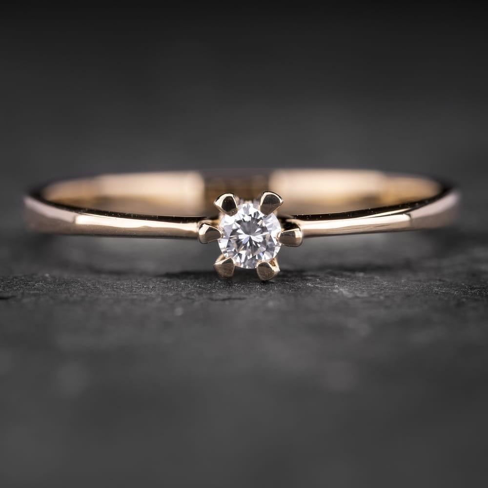 """Sužadėtuvių žiedas su Briliantu """"Nuoširdžioji 21"""""""