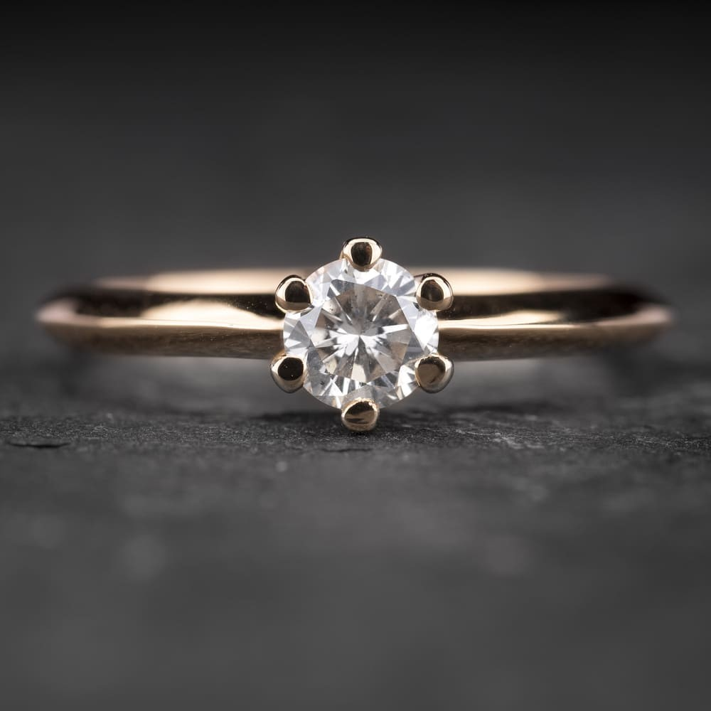 """Sužadėtuvių žiedas su Briliantu """"Classic 3"""""""
