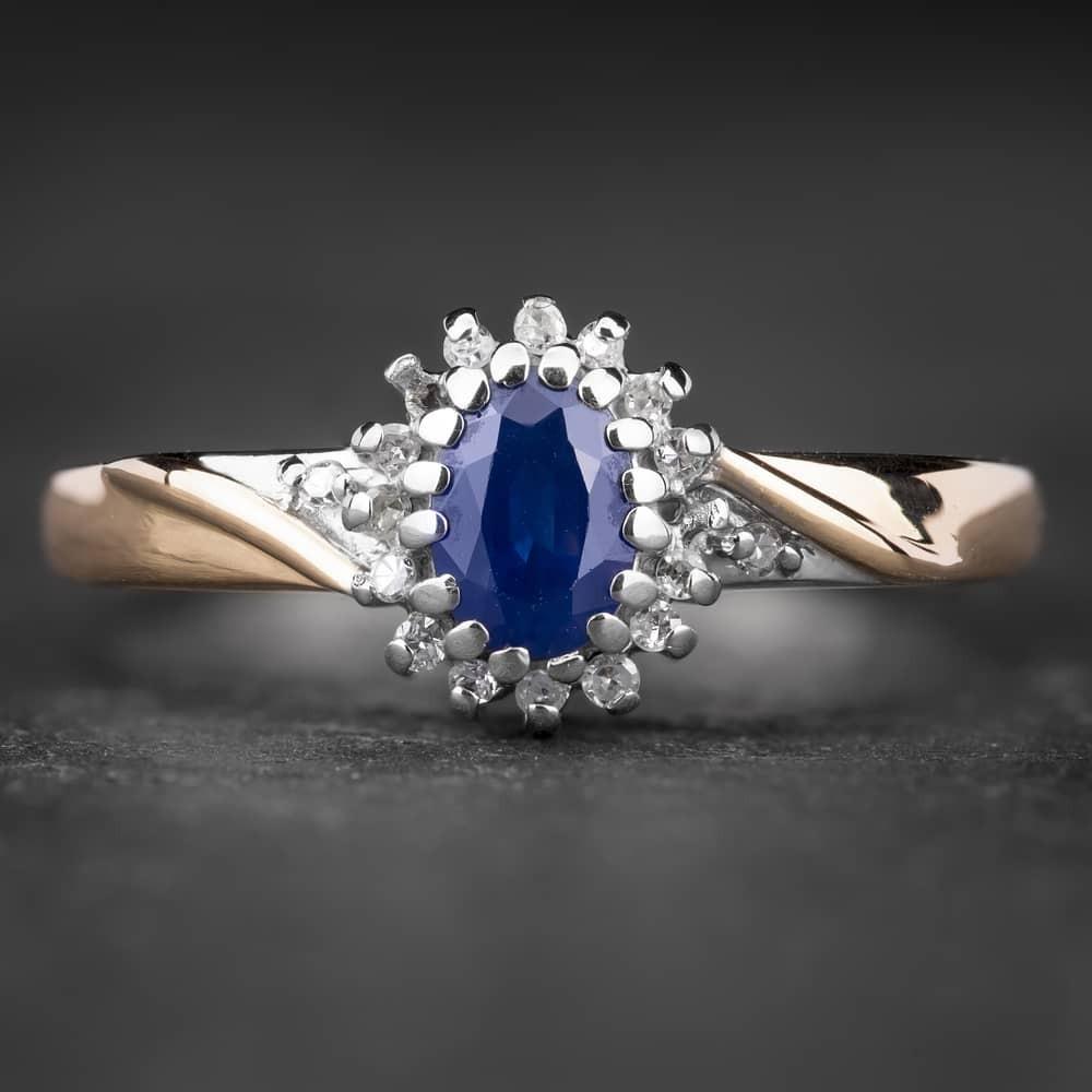 """Auksinis žiedas su Brangakmeniais """"The Sun of Sapphire 4"""""""