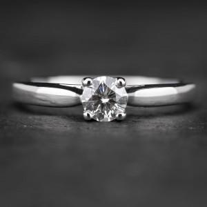 """Sužadėtuvių žiedas su Briliantais """"Two Hearts 3"""""""