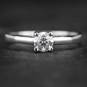"""Sužadėtuvių žiedas su Briliantu """"The Diamond 50"""""""