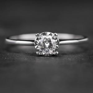 """Sužadėtuvių žiedas su Briliantu """"Nuostabusis 19"""""""