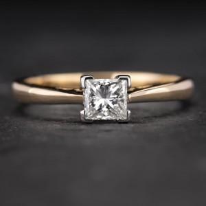 """Sužadėtuvių žiedas su Deimantu """"Princess 33"""""""
