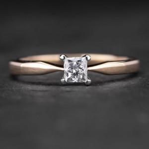 """Sužadėtuvių žiedas su Deimantu """"Princess 32"""""""