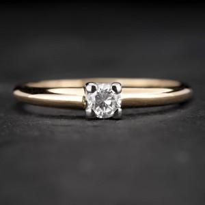 """Sužadėtuvių žiedas su Deimantu """"The Diamond 20"""""""