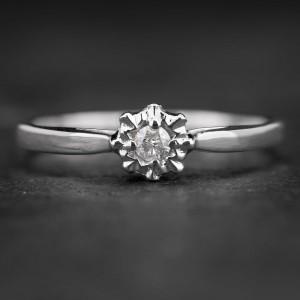 """Sužadėtuvių žiedas su Briliantu """"The Sun 2"""""""