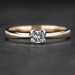 """Sužadėtuvių žiedas su Deimantu """"Princess 34"""""""