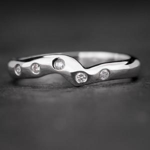 """Auksinis žiedas su Briliantais """"Deimantinė Juostelė 7"""""""