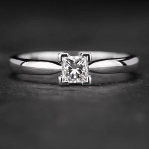 """Sužadėtuvių žiedas su Deimantu """"Princess 35"""""""