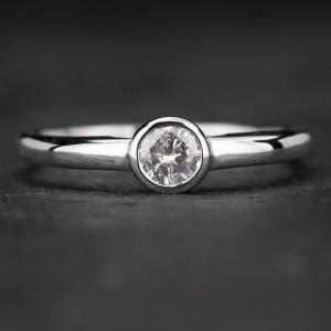 """Sužadėtuvių žiedas su Deimantu """"Sweetness 17"""""""
